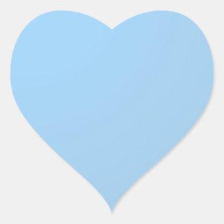 Adesivo Coração Máscaras lisas: Azuis bebés