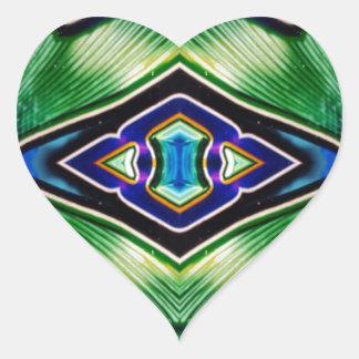 Adesivo Coração Máscaras ricas bonito da lavanda azul verde