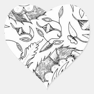 Adesivo Coração Matéria têxtil indonésia dos vegetais e animal