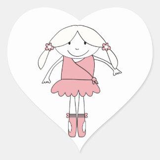Adesivo Coração Menina da bailarina