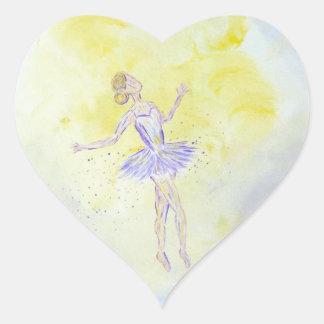 Adesivo Coração Menina de dança