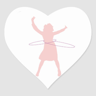 Adesivo Coração menina de hula