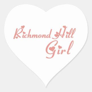 Adesivo Coração Menina de Richmond