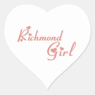 Adesivo Coração Menina do monte de Richmond