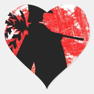 Adesivo Coração Menina japonesa