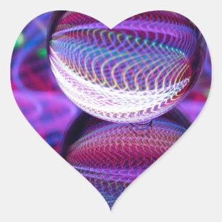 Adesivo Coração Mentiras na bola de cristal