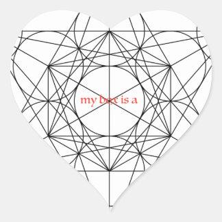 Adesivo Coração minha caixa é… O cubo de Metatron