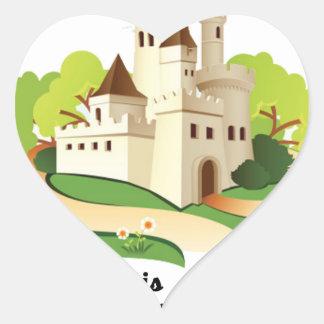 Adesivo Coração minha casa meu castelo
