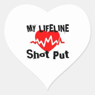 Adesivo Coração Minha linha de vida tiro psto ostenta o design