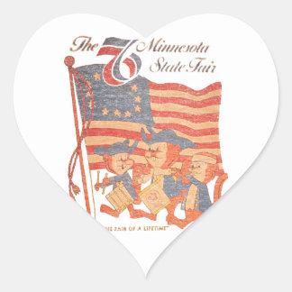 Adesivo Coração Minnesota 1976 justo