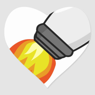 Adesivo Coração Míssil de Rocket