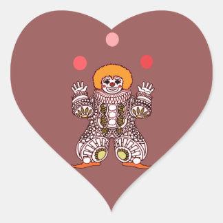 Adesivo Coração Mnanipulação do palhaço