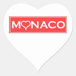 Adesivo Coração Mónaco