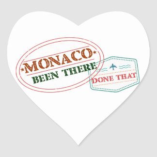 Adesivo Coração Monaco feito lá isso