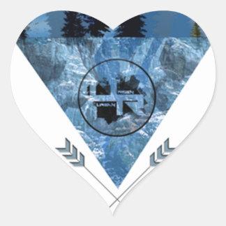 Adesivo Coração Montanha