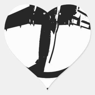 Adesivo Coração Mosca afastado