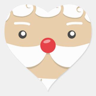 Adesivo Coração Motivo do Natal de Papai Noel