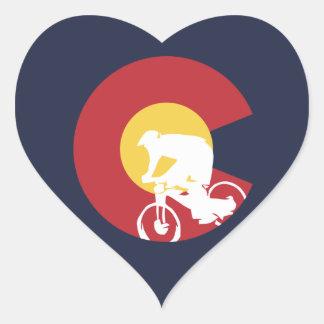 Adesivo Coração Mountain bike Colorado