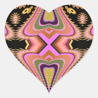 Adesivo Coração Movimentos Groovy do Blowfish do pêssego