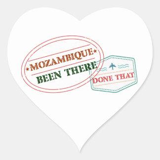 Adesivo Coração Mozambique feito lá isso