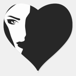 Adesivo Coração mulher