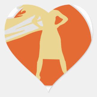 Adesivo Coração mulher-estrela mundial