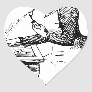 Adesivo Coração Mulher que usa o Airbrush velho