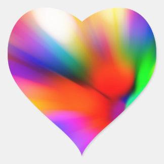 Adesivo Coração Multi luzes borradas da cor