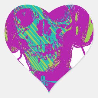 Adesivo Coração Música do zombi