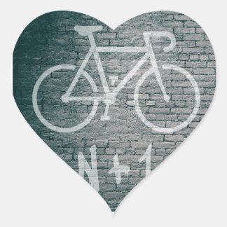 Adesivo Coração N+1 grafite da bicicleta