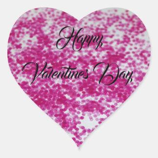 Adesivo Coração Namorados cor-de-rosa do brilho