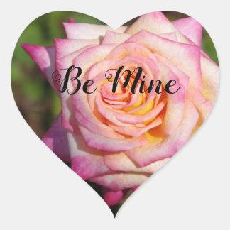 Adesivo Coração Namorados do rosa do rosa