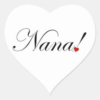 Adesivo Coração Nana!