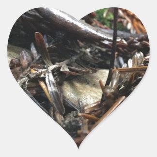 Adesivo Coração Não tropece o cogumelo