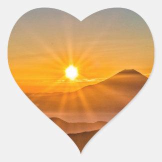 Adesivo Coração Nascer do sol