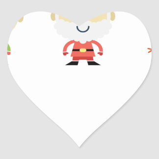 Adesivo Coração Natal de Papai Noel