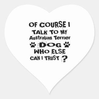 Adesivo Coração Naturalmente eu falo a meu cão Desi de Terrier
