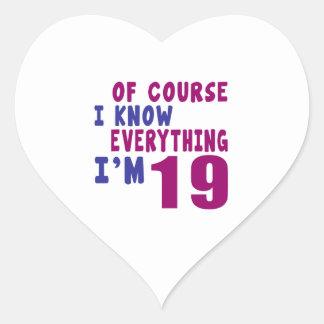 Adesivo Coração Naturalmente eu sei que tudo eu sou 19