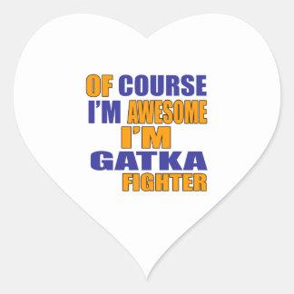 Adesivo Coração Naturalmente eu sou lutador de Gatka