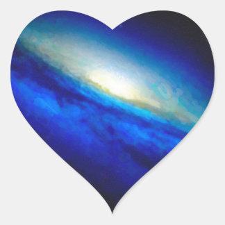 Adesivo Coração Nebulla abstrato com a nuvem cósmica galáctica 26