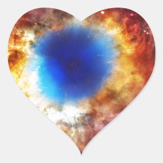 Adesivo Coração Nebulosa da hélice