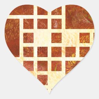 Adesivo Coração Nemissos V1 - quadrados pintados