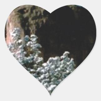 Adesivo Coração neves do inverno no deserto