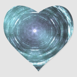 Adesivo Coração No buraco negro
