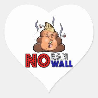 Adesivo Coração NoBanNoWall nenhuma proibição nenhuma proibição da