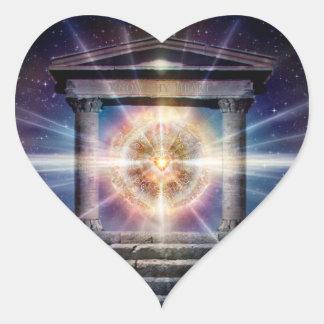 Adesivo Coração Noite do templo do coração H111