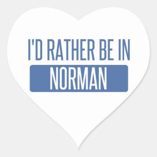 Adesivo Coração Normando