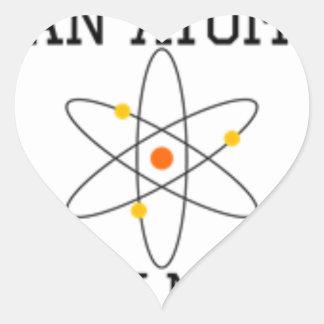 Adesivo Coração Nunca confie um átomo - ciência engraçada