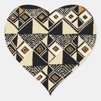 Adesivo Coração O africano Kuba inspirou o design