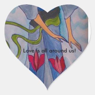 Adesivo Coração O amor é toda em torno de nós